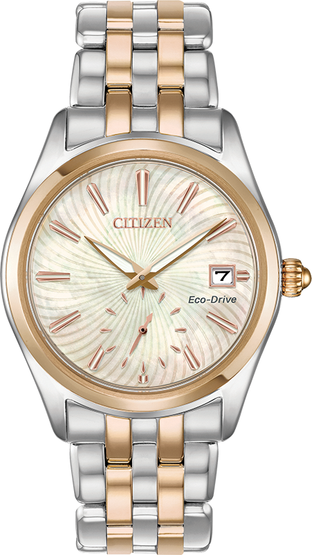 Citizen Eco-Drive - Corso - Two Tone Rose Gold with MOP Dial