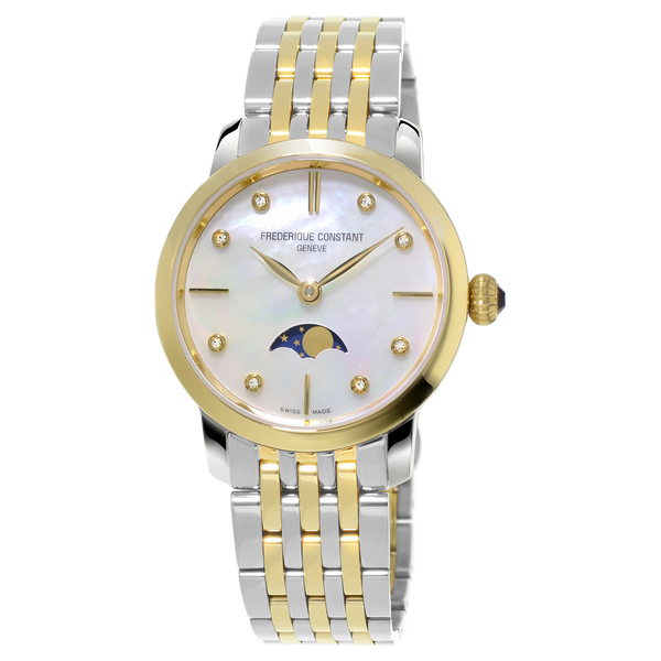 Frederique Constant - LADIES SLIMLINE MOONPHASE Two Tone