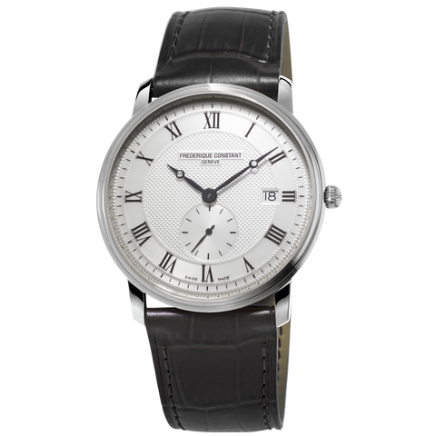 Frederique Constant - SLIMLINE GENTS QUARTZ on Black Leather