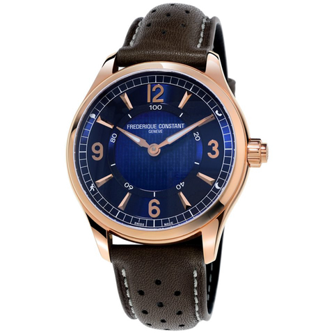 Frederique Constant - HOROLOGICAL SMARTWATCH - Rose Gold with Blue Dial