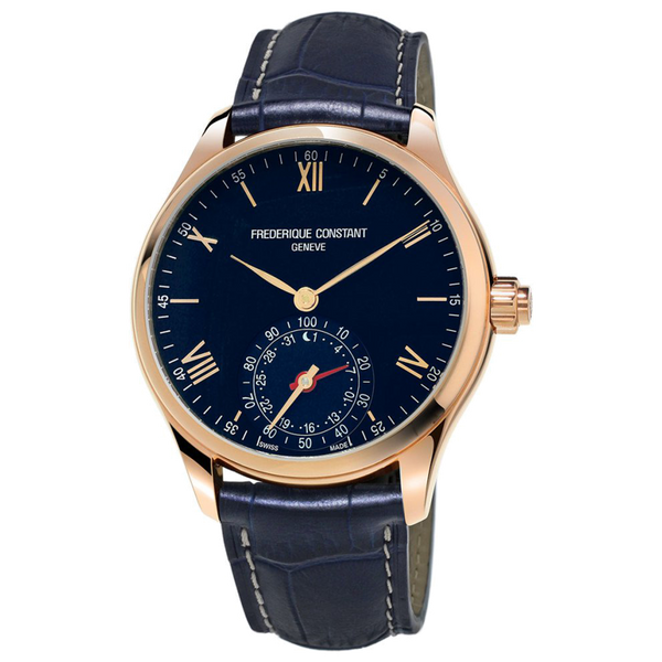 Frederique Constant - HOROLOGICAL SMARTWATCH - Rose Gold Tone with Navy Dial