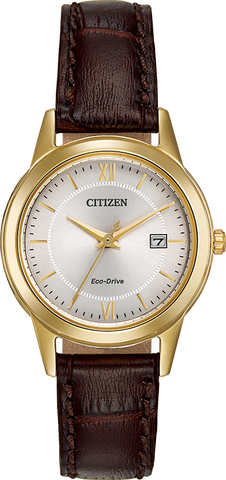 Citizen Eco-Drive - Corso - Gold Tone with Brown leather