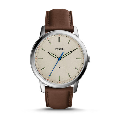 Fossil Watch - THE MINIMALIST SLIM THREE-HAND BROWN LEATHER WATCH