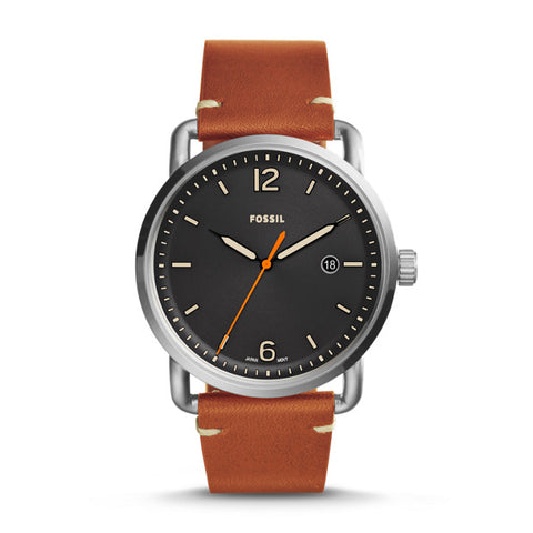 Fossil Watch - THE COMMUTER THREE-HAND DATE LIGHT BROWN LEATHER WATCH
