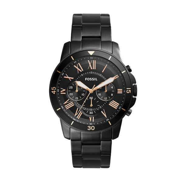 Fossil Watch - Grant Sport Chronograph Black Stainless Steel Watch