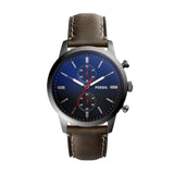 Fossil Watch - The Townsman 44MM Chronograph Gray Leather Watch