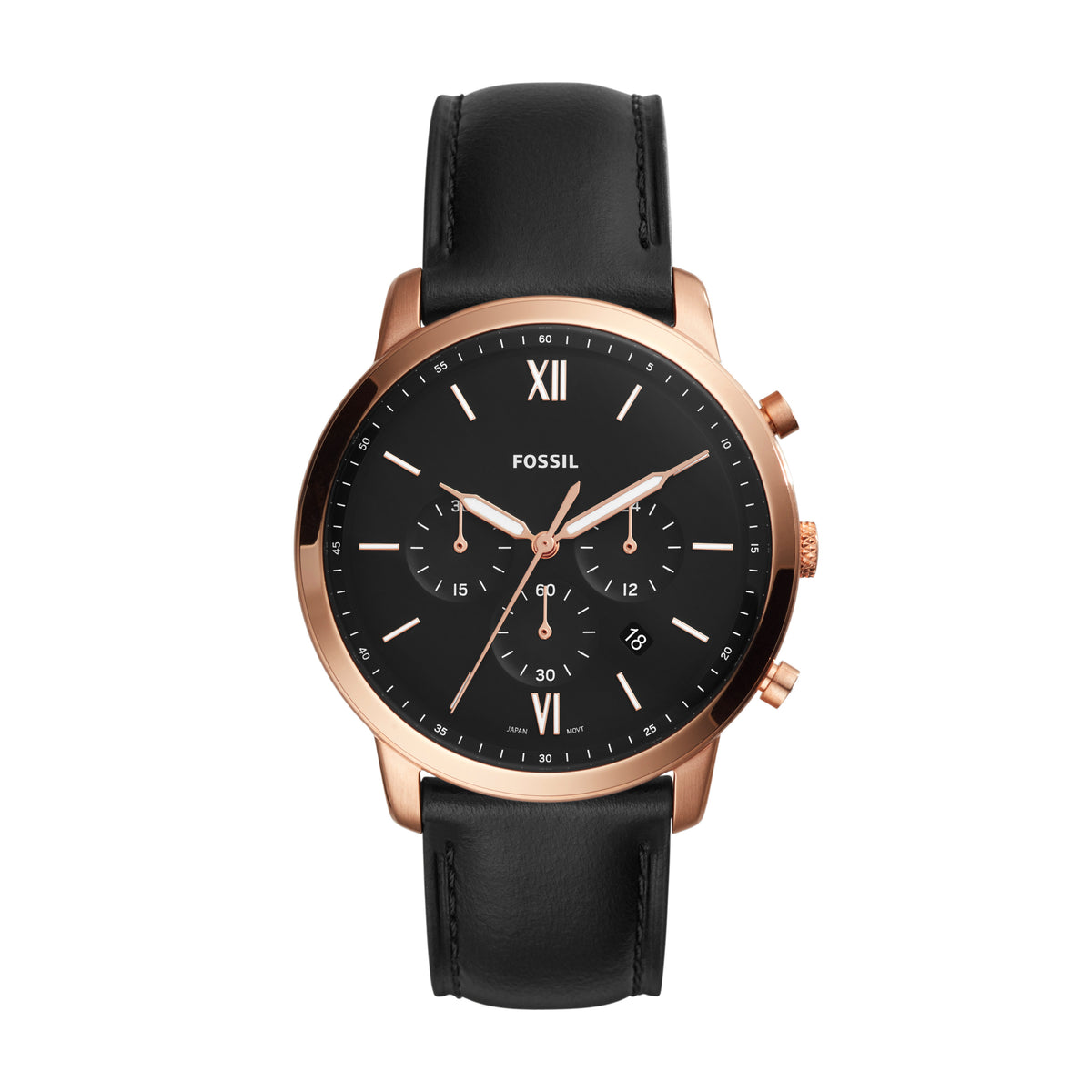 Fossil Watch - Neutra Chronograph Black Leather Watch