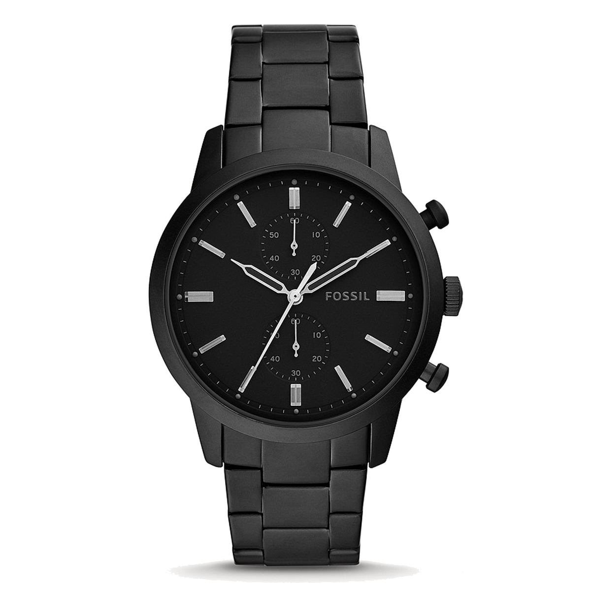 Fossil Watch Townsman: Chronograph Black Stainless Steel