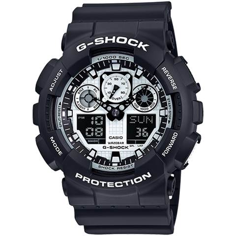 Casio G-Shock - Analog/Digital - Black/White