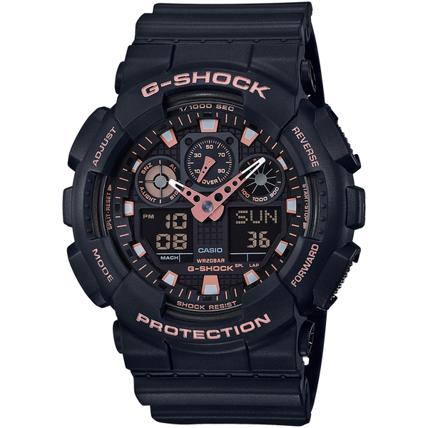 Casio G-Shock - Analog/Digital - Black with Rose Gold accents
