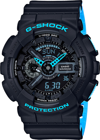 Casio G-Shock -  Ani/Digi - Black and Blue
