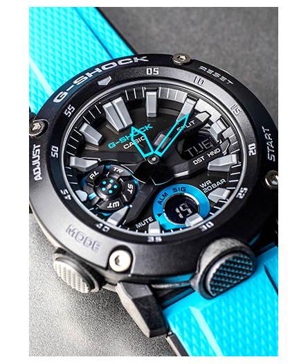 Casio G-Shock - GA2000 Series - Carbon Core Guard - Black/Blue