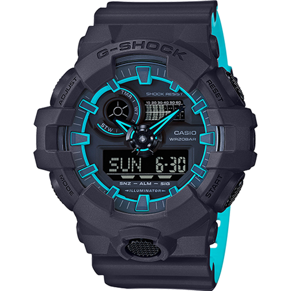 Casio G-Shock - Analog/Digital - Black/Blue