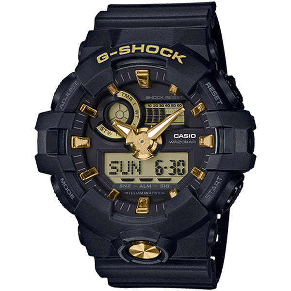 Casio G-Shock - Analog/Digital - Urban Black/Gold