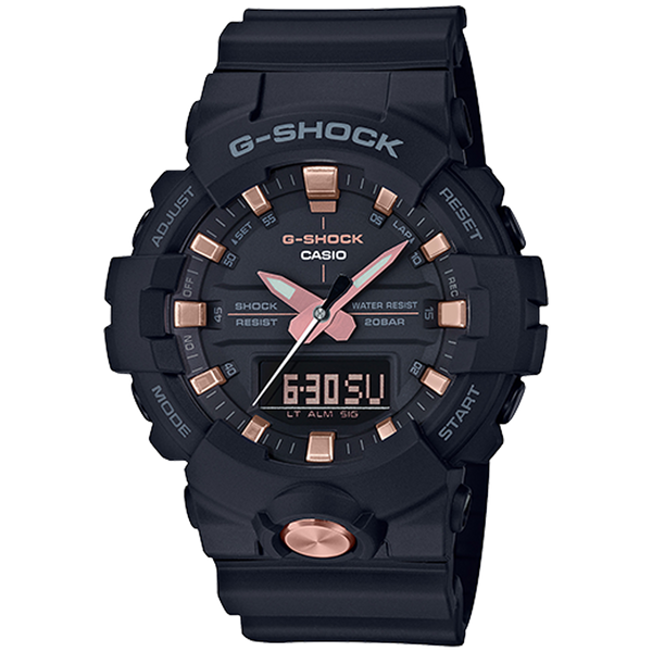 Casio G-Shock - Analog/Digital - Black & Rose Gold