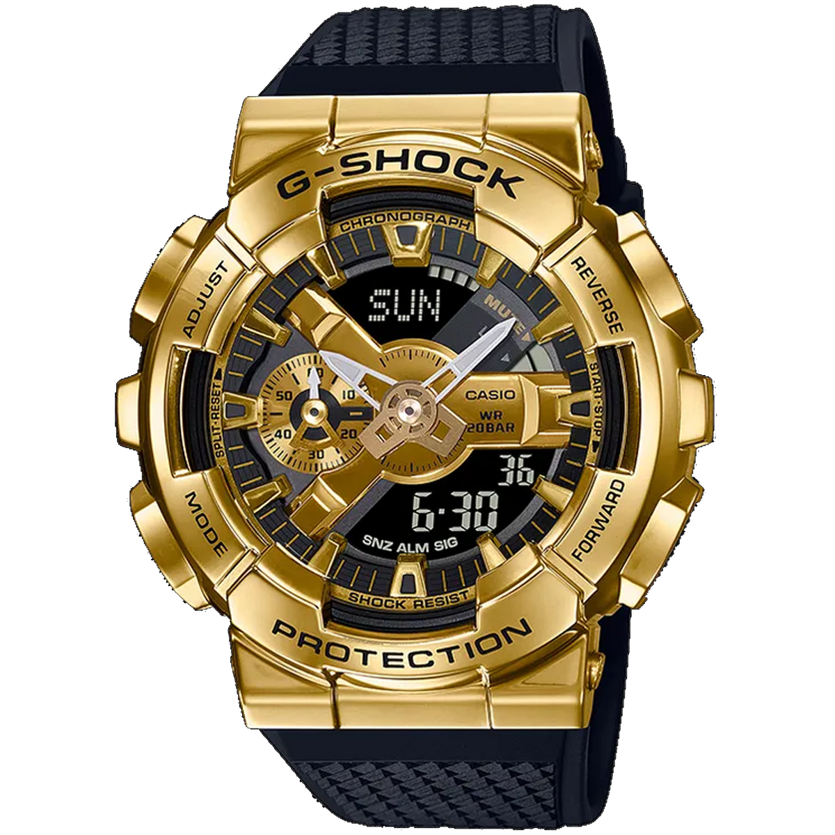 Casio G-Shock -  GA110 Series - Steel Bezel GM110G-1A9
