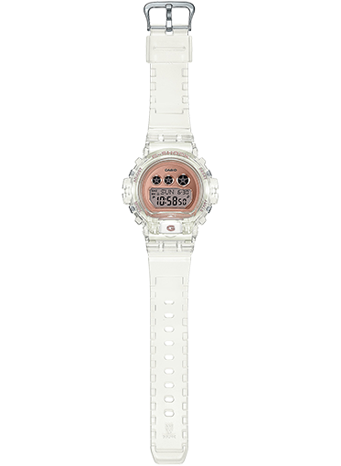 Casio G-Shock S Series - GMDS6900 Series - Transparent Rose Gold/White