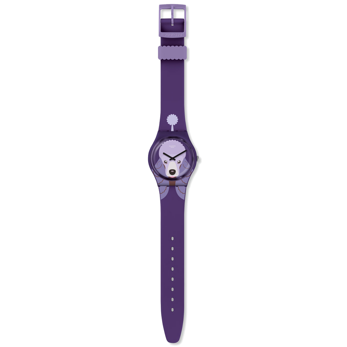 Swatch Watch 34mm - Purple Poodle