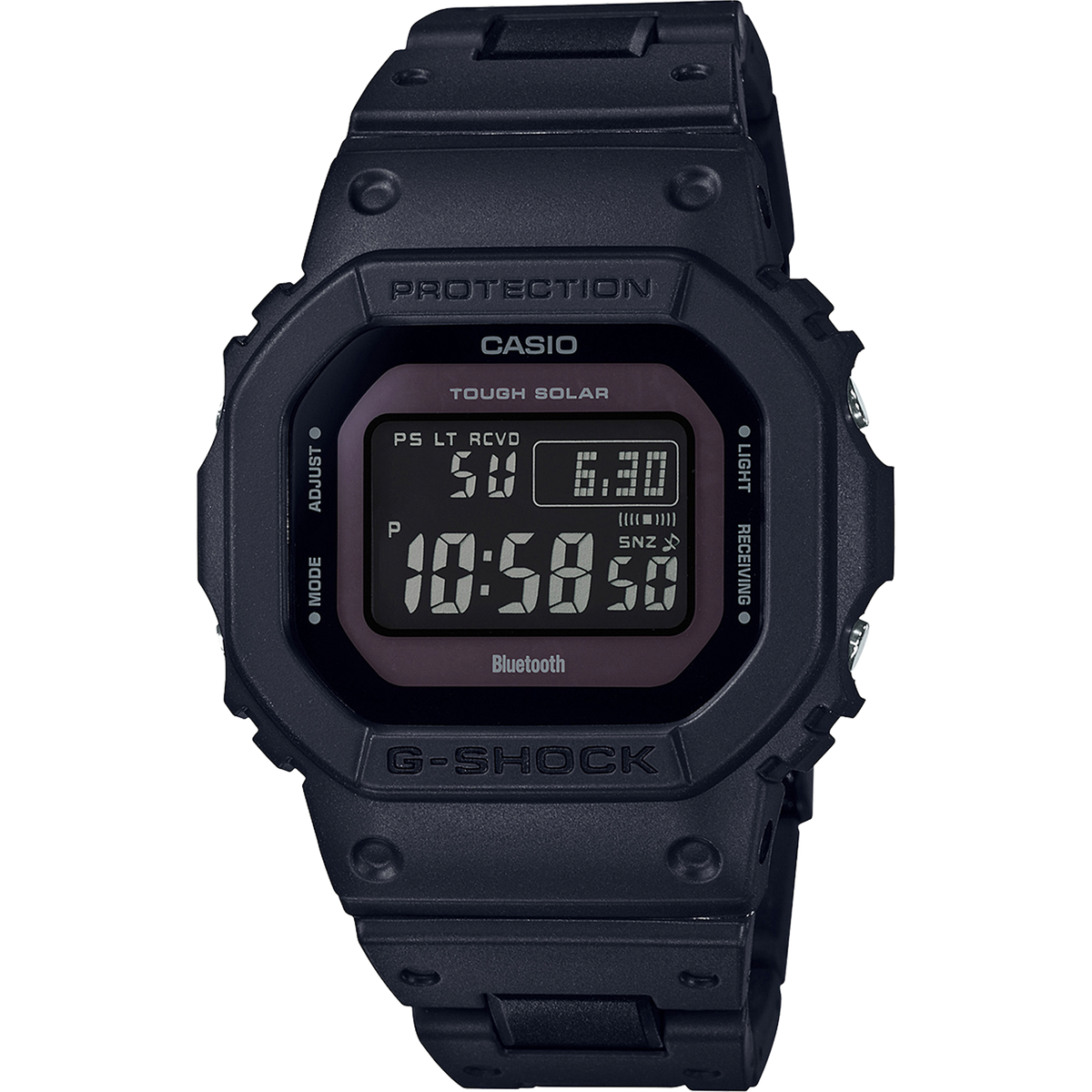 Casio G-Shock - Black with Resin Bracelet