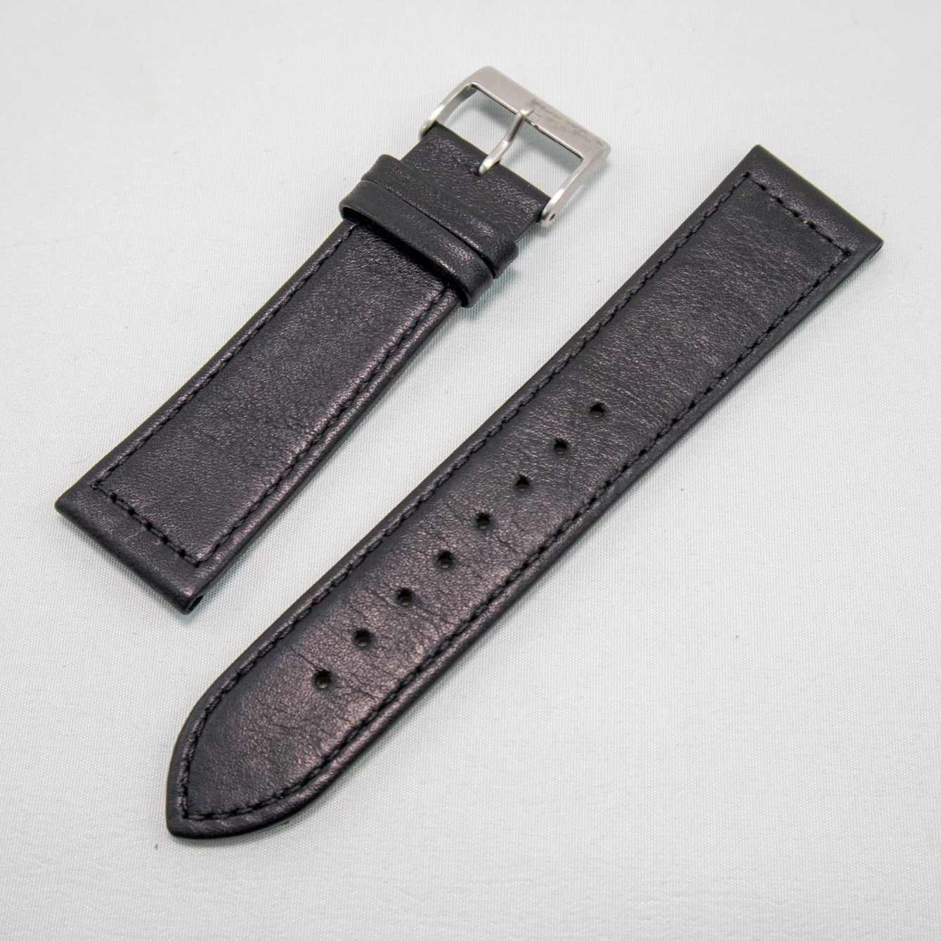 Alpine Watchstrap - Flat Stitched Leather