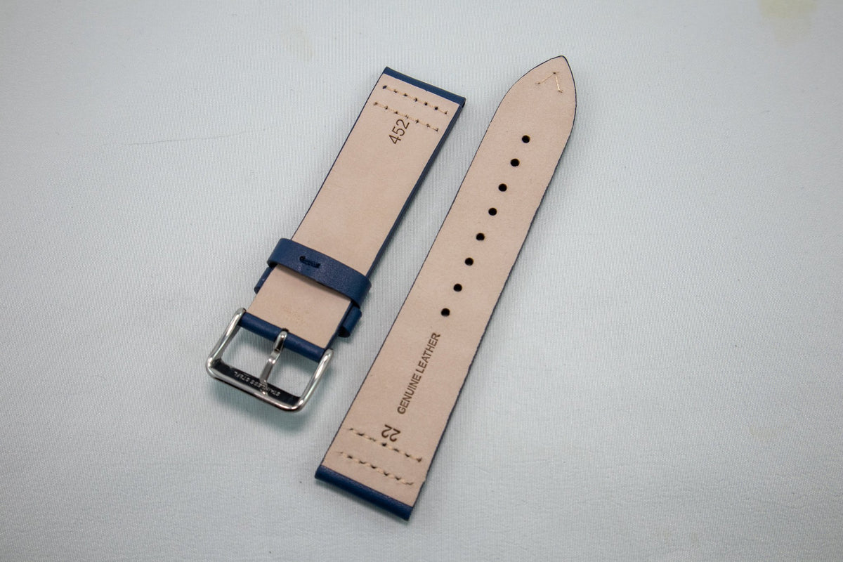 Alpine Watchstrap - Plain Side Stitched Leather
