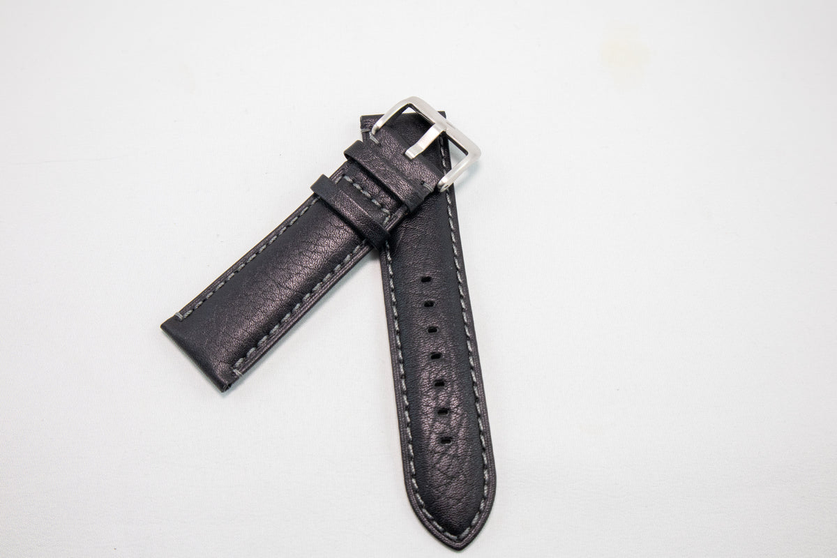 Alpine Watchstrap - Camel Grain - Black