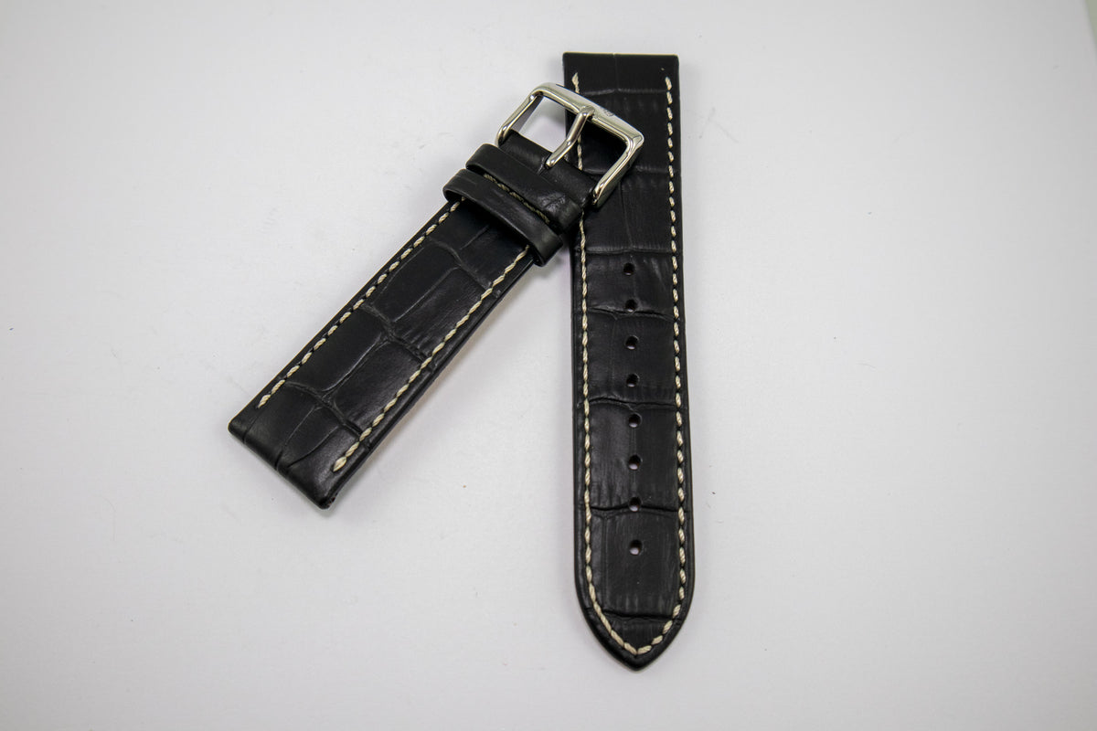 Condor Watchstrap - ALLIGATOR PRINT EMBOSSED LEATHER