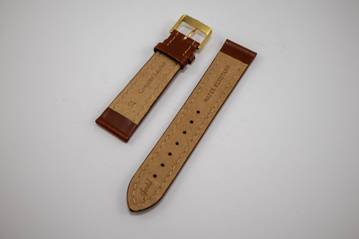 Speidel Watchstrap - Bounty Stitched Leather - Brown