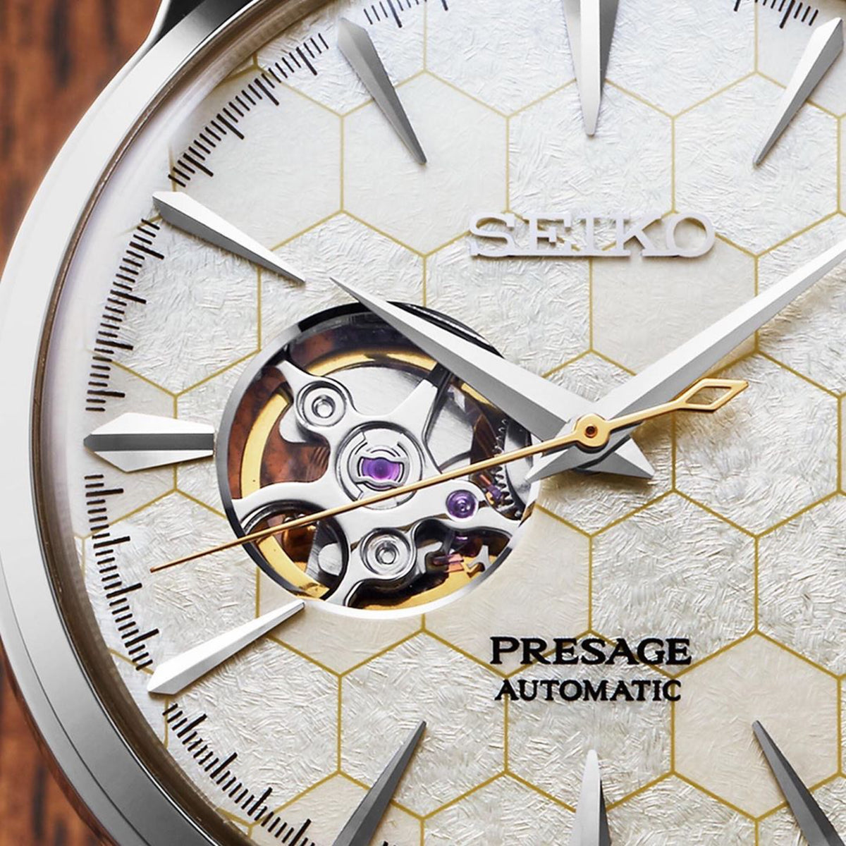 Seiko Presage - 40MM Cocktail Time Honeycomb with Open Heart