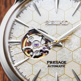 "Seiko Presage - 40MM Cocktail Time ""Honeycomb"" with Open Heart"