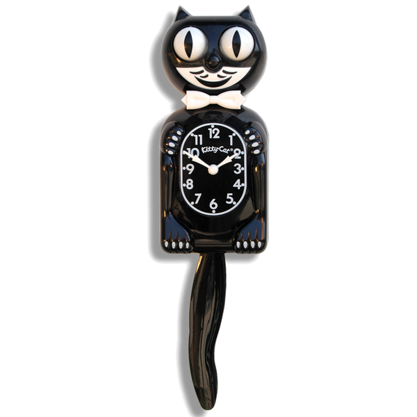 Classic Black Kitty-Cat® Klock