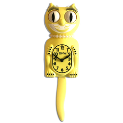 Majestic Yellow Lady  Kit-Cat® Klock