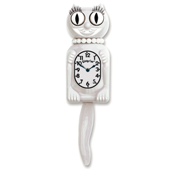 White Miss Kitty-Cat® Klock
