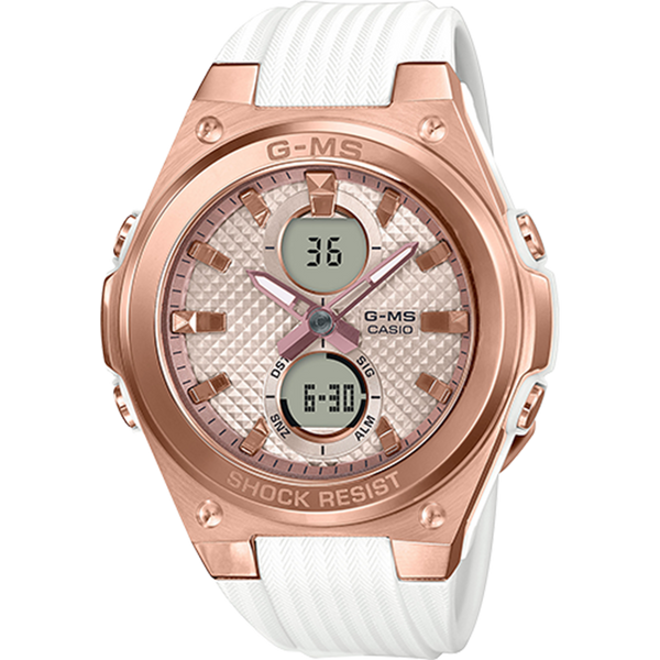 Casio Baby G - ANI/DIGI - Rose Gold & White