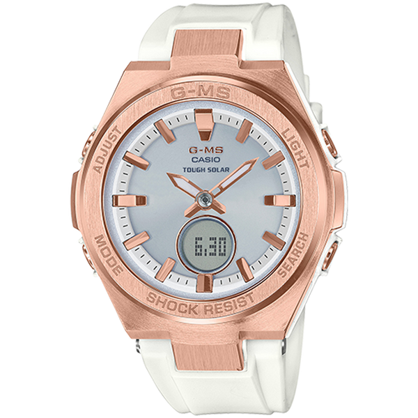 Casio Baby G - Solar ANI/DIGI - Rose Gold and White
