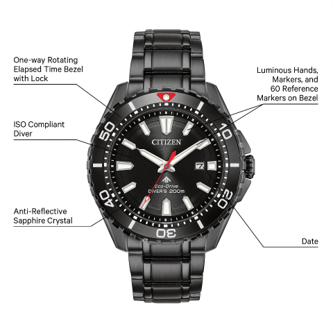 Citizen Eco-Drive - Promaster Black Stainless Steel Divers