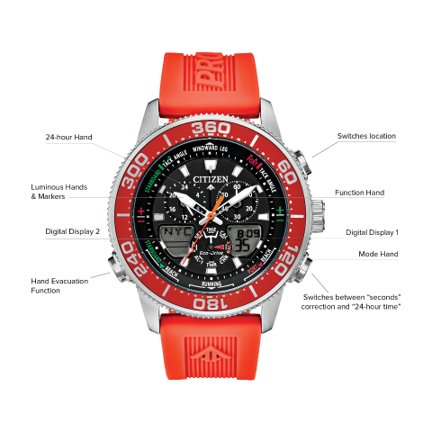 Citizen Eco-Drive - Promaster Sailhawk - Orange