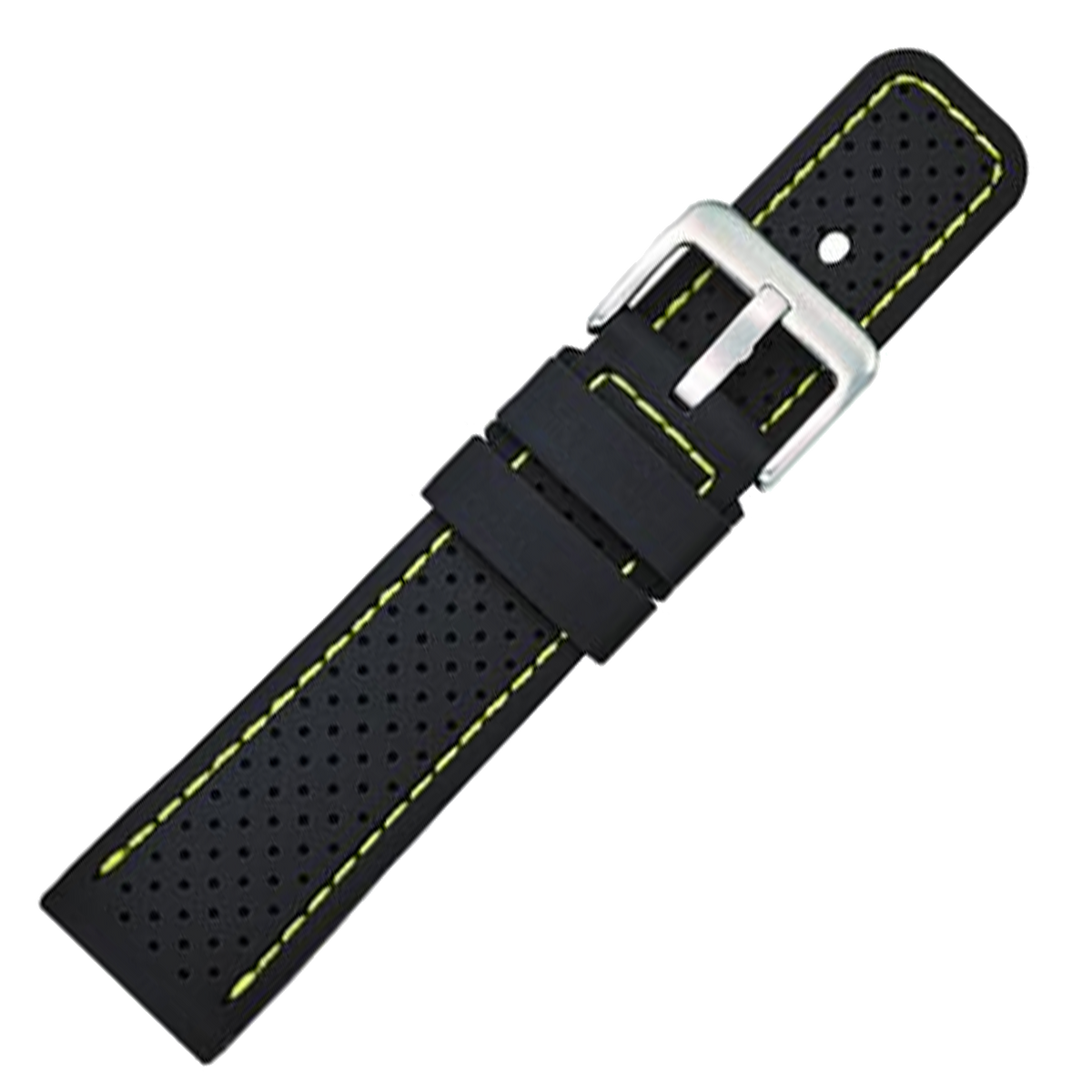 Alpine Watchstrap - Silicone Textured Strap with Coloured Stitching