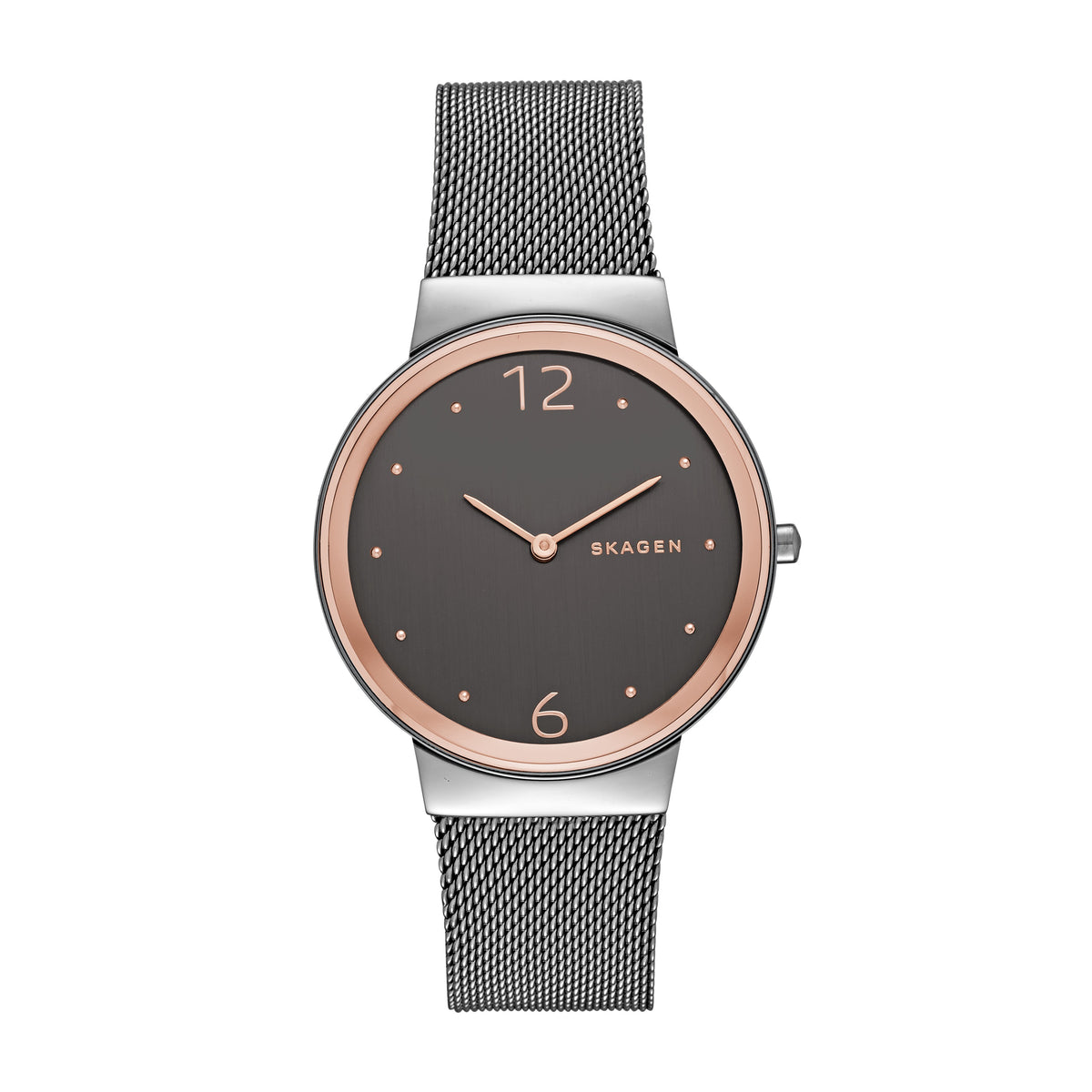 Skagen - Freja Gray Steel-Mesh Watch