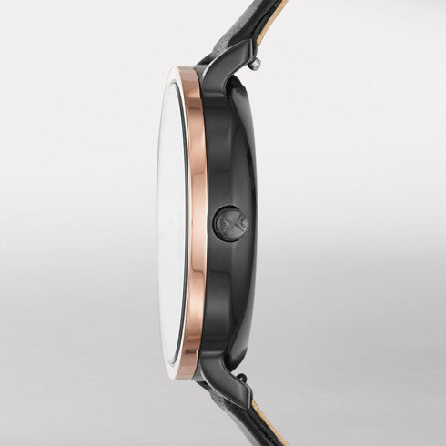 Skagen - Hagen Dual-Time Leather Watch