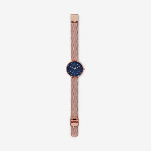 Skagen - Signatur Rose Gold-Tone Steel-Mesh Watch