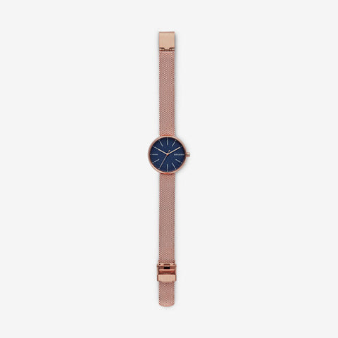 5025999b7f17 Skagen - Signatur Rose Gold-Tone Steel-Mesh Watch – Halifax Watch ...