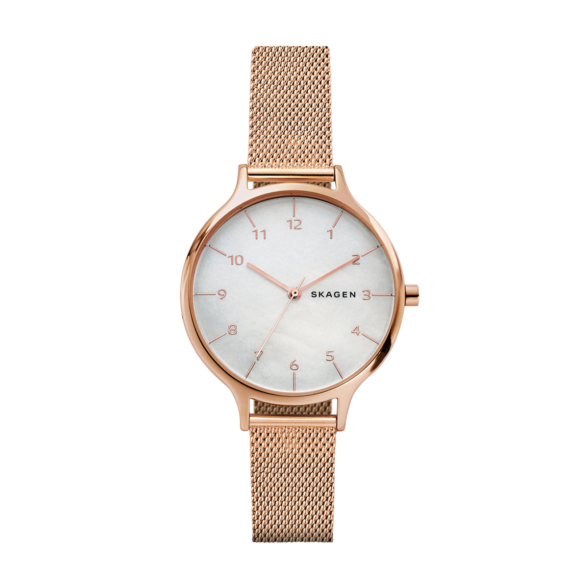 Skagen - Anita Rose Gold-Tone Steel-Mesh Watch