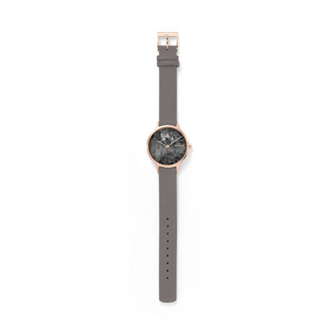 Skagen - Anita Gray Leather Marble Watch