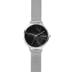 Skagen - Anita Steel-Mesh Marble Watch