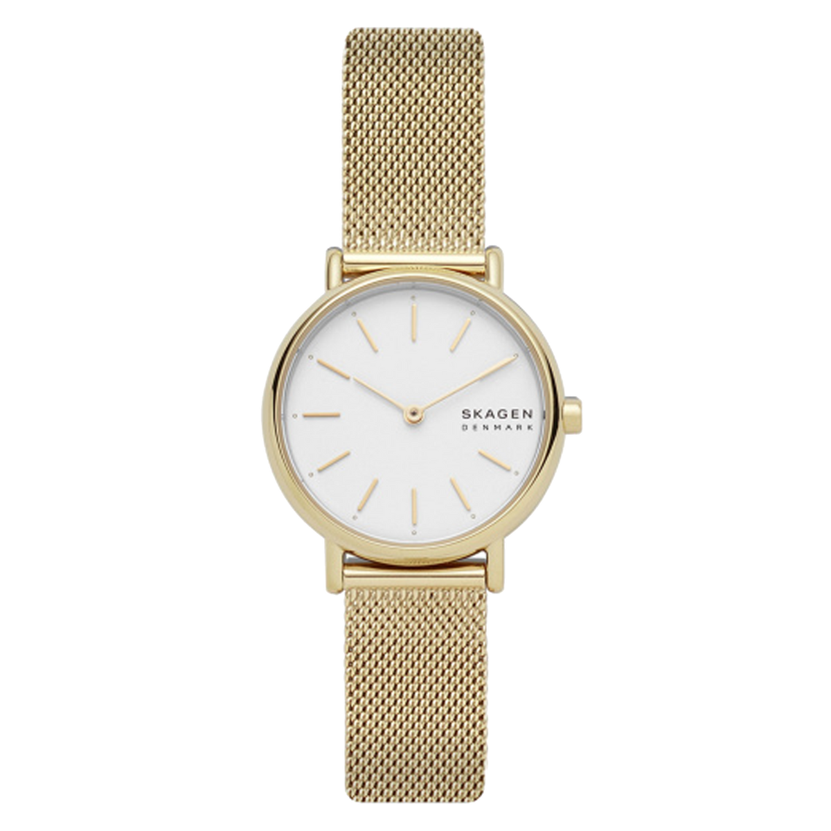 Skagen - Signatur Slim Gold-Tone Steel-Mesh Watch