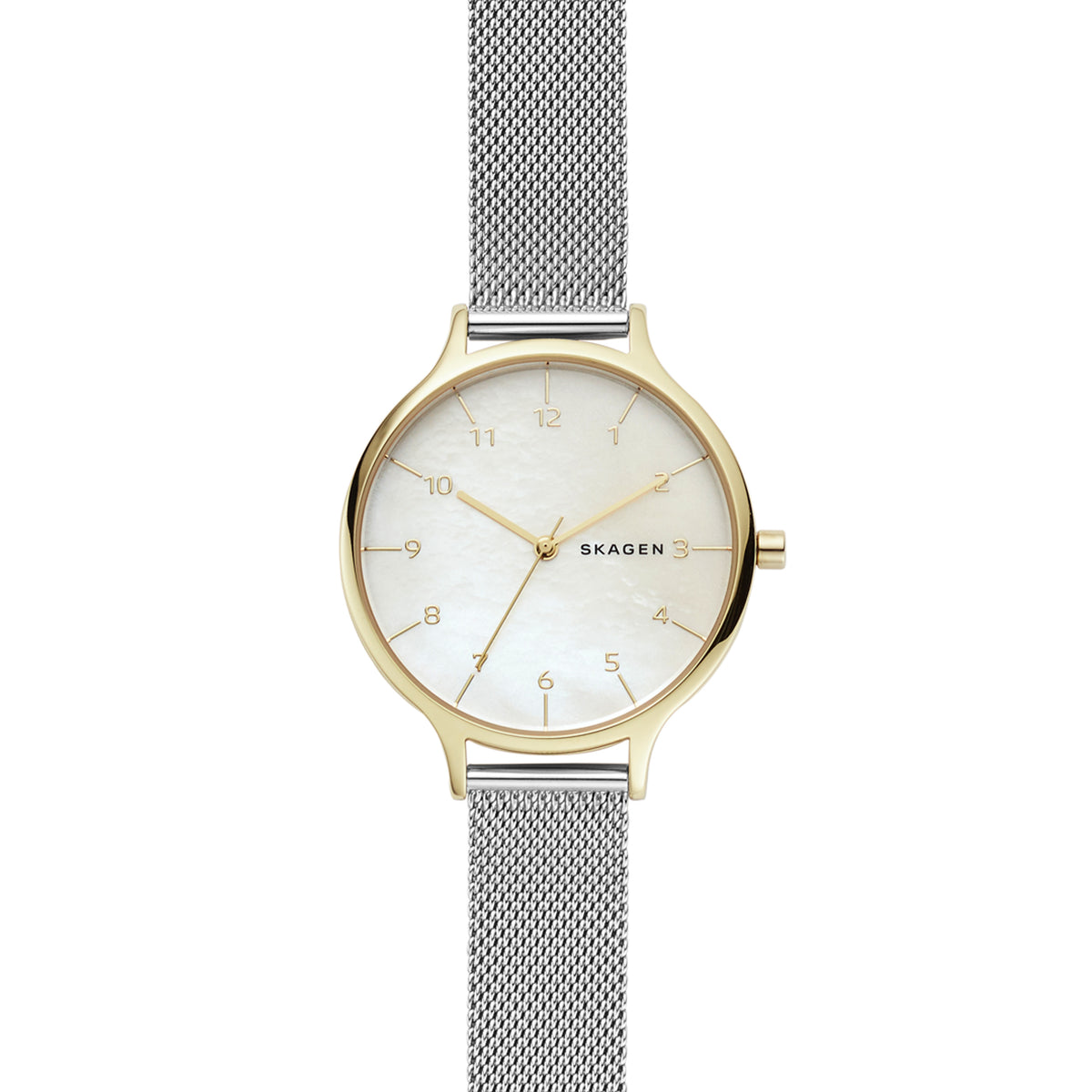 Skagen - Anita Two-Tone Steel-Mesh Mother of Pearl Watch