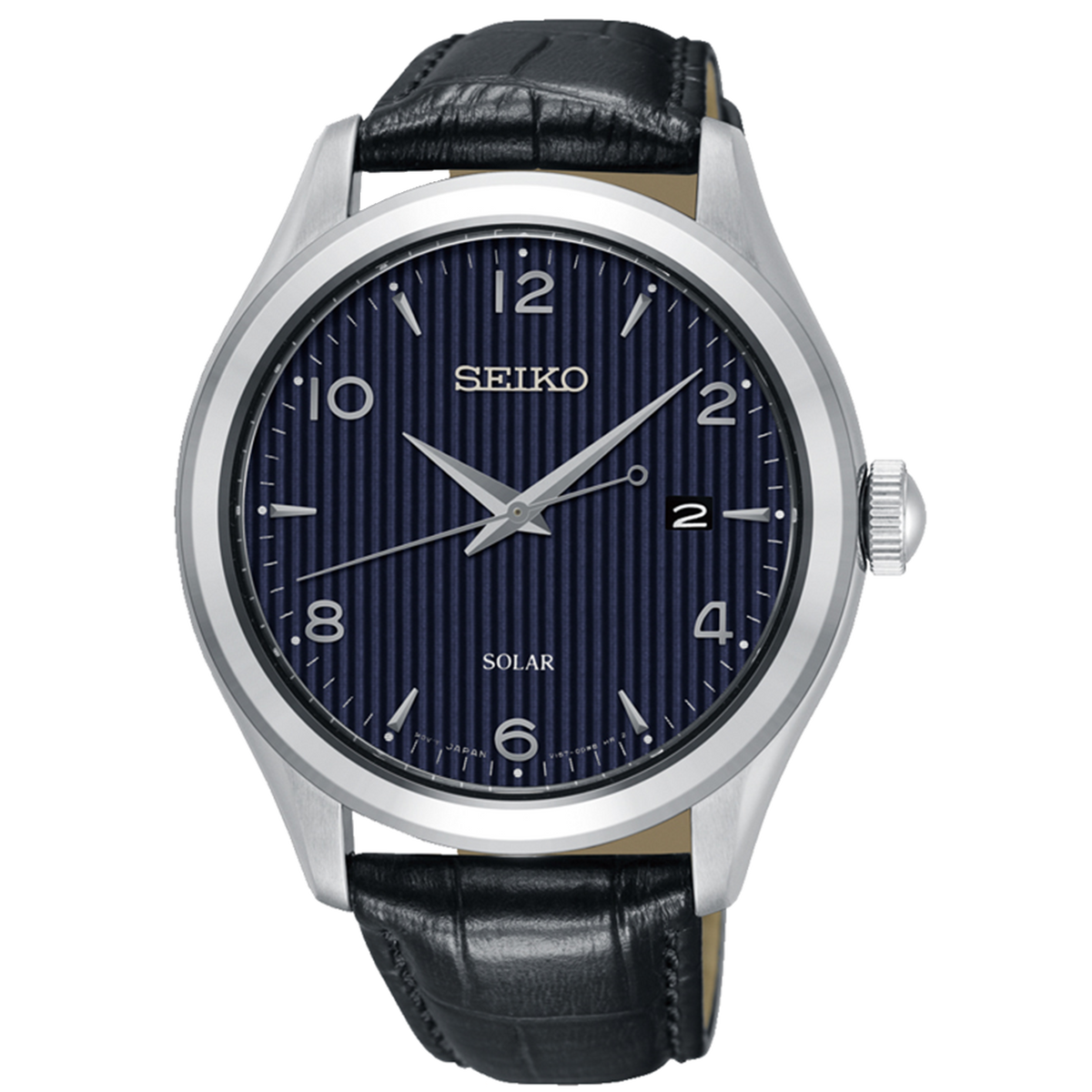 Seiko - Solar Watch with Black leather