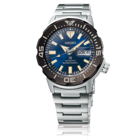 "Seiko Prospex - ""Monster"" Stainless Steel, Blue Dial"