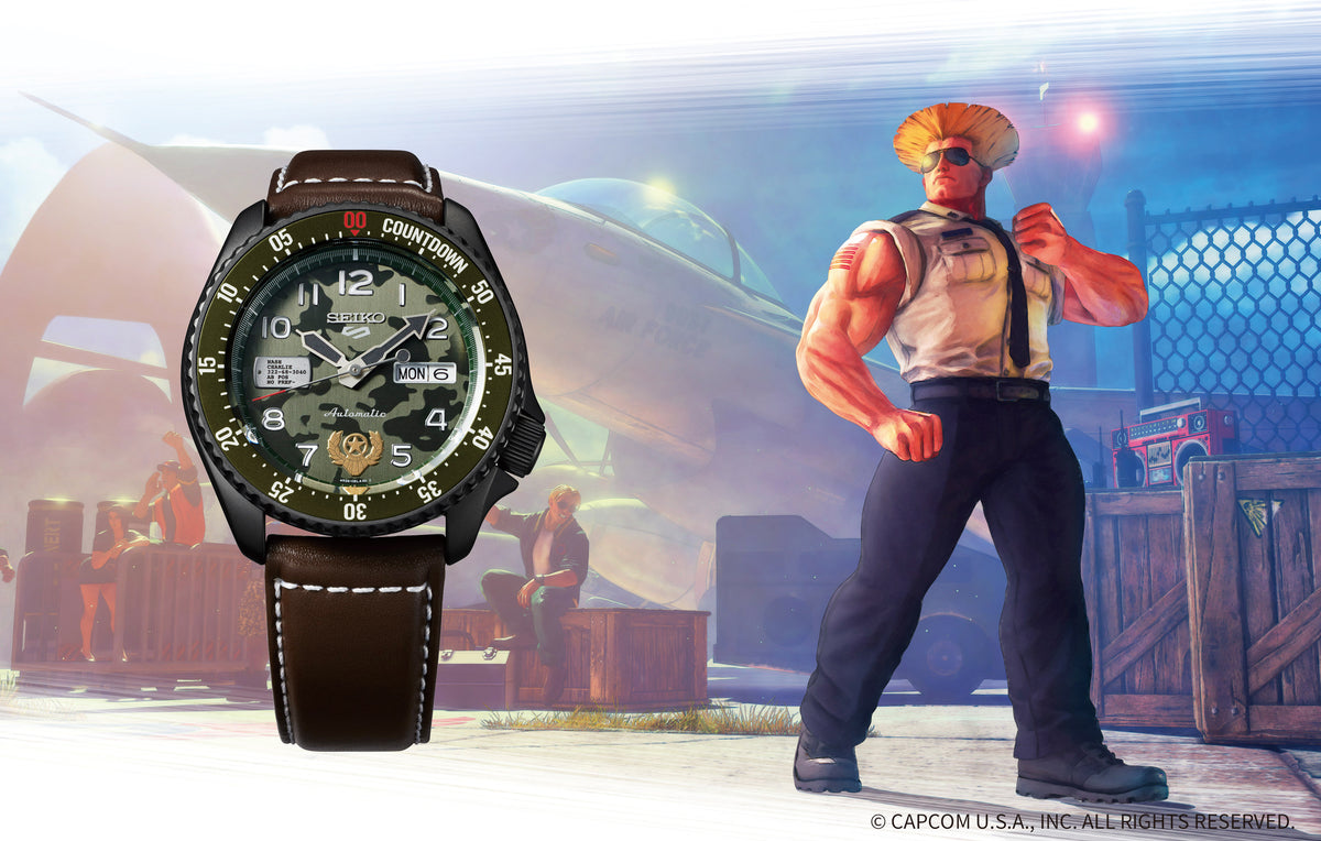 Seiko 5 Sport - Street Fighter Guile Limited Edition SRPF21K1